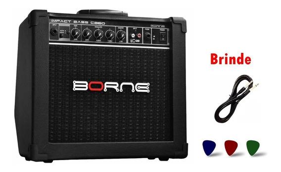 Amplificador Borne Para Baixo Cb60 20w + Garantia E Brinde