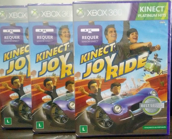 Kinect Joy Ride Xbox 360 Mídia Física Novo Lacrado