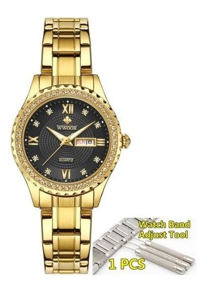 Relógio Feminino De Pulso Wwoor 8856 Varios Modelos
