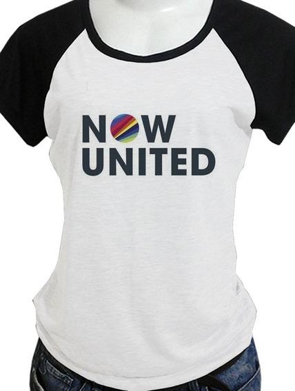 Camisa Babylook (ou Camiseta) Now United Veja As Opções De Costas Blusa C447