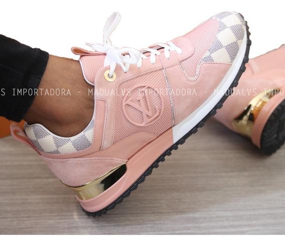 Tênis Louis Vuitton Run Away Rose - Frete Grátis