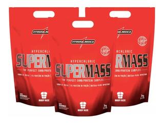 3x Super Mass Hipercalórico 3kg (total 9kg) Integral Médica
