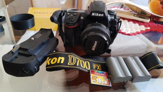 Camera Nikon D700 +lente 24-85 +grip+2baterias+disparador