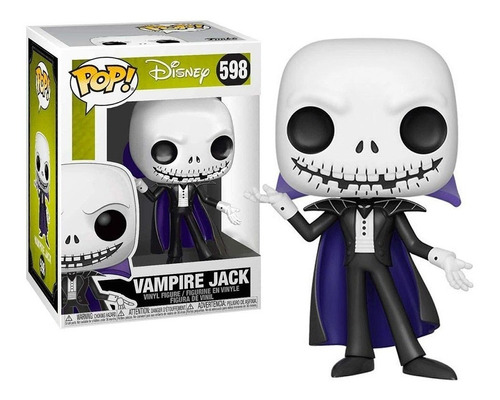 Imagem 1 de 5 de Boneco Funko Pop Vampiro Jack 598 Brilha No Escuro - Disney