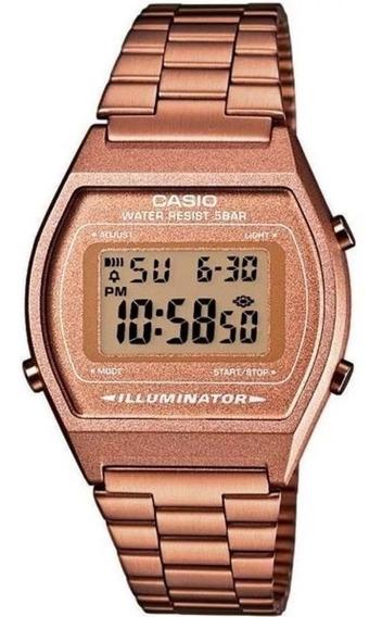 Relógio Casio Feminino Vintage B640wc-5adf Rosê Original