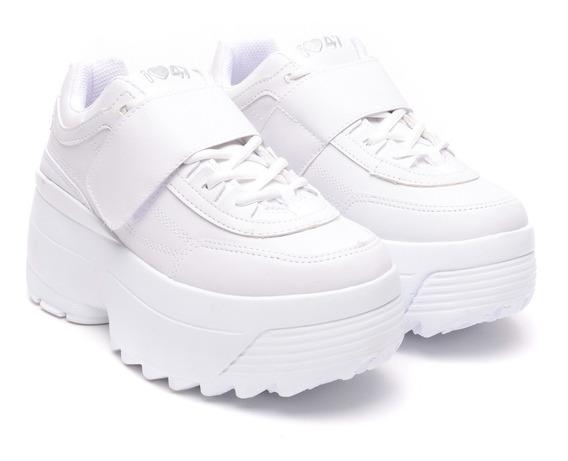 Zapatillas Mujer Sneakers Modelo Plataforma Alta Base Heben