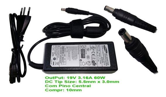 Fonte Carregador P/ Samsung Notebook Ad6019 19v 3,16a Sm1510