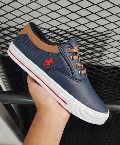 Zapatillas Importadas Polo Azules N 39.