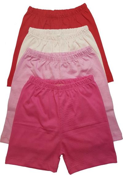 Kit 4 Shorts Bermuda Malha Menino Menina Unissex Rn Ao G