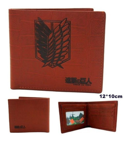 Shingeki No Kyojin Cartera Attack On Titan Escudo Tacto Piel