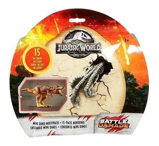 Jurassic World - Pack 15 Mini Dinosaurios - Mattel - Origina