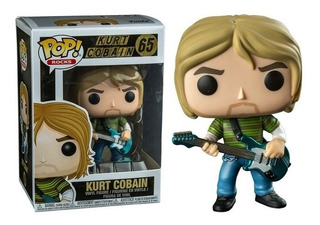 Funko Pop Kurt Cobain #65 Orig. - Caja Con Detalles- Purpura