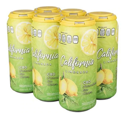 California Limonada Bebida Cb Life Six Pack Lata 473 Ml