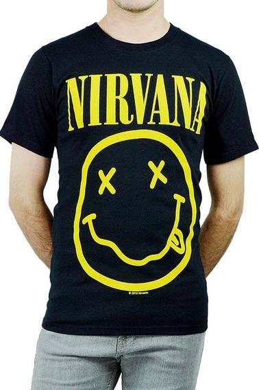 Playera Logo Nirvana Banda Rock Envio Gratis