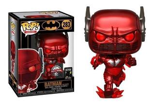Funko Pop Heroes Batman 80th Batman Metal Red Death