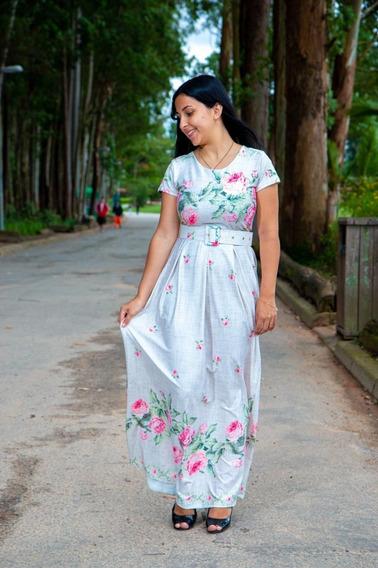 Vestido Longo De Noiva Casamento Civil Luxo Moda Comportada