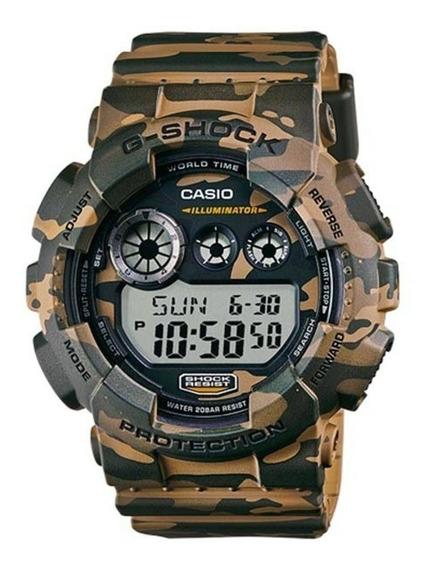 Relógio Masculino Casio G-shock Gd-120cm-5dr - Camuflado