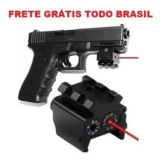 Mini Laser Pt 838c 24/7 92 100 Mira Picatinny Vermelho
