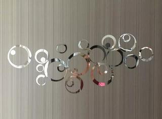 Acrilico Espejo Circulos Decorativo Set 24 Pz Envio Rapido