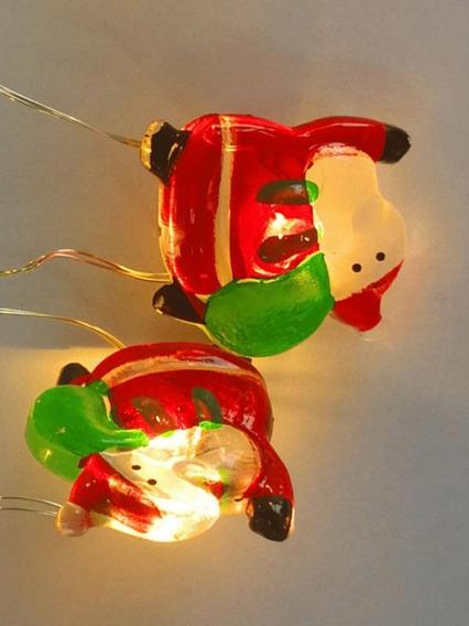 Cordão Luminoso 10 Leds A Pilha Modelo Papai Noel -taschibra