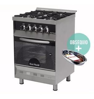 Cocina Industrial Sol Real 4 Hornallas 58cm Pizzero Ahora 12