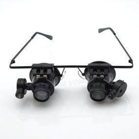 Óculos Lupa Com Lentes De Ampliação 20x Para Reparos Com Led