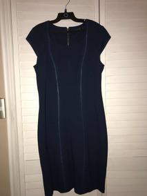 Vestido Liola 44 Hermoso Azul Piedra Poco Uso