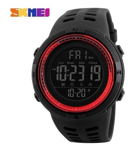 Relógio Digital Militar Skmei Conquer Original - Vermelho