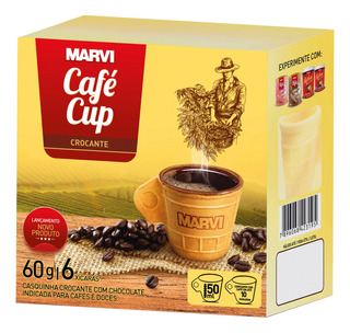 Cafécup Xícara Comestível Marvi Com 6 Unidades