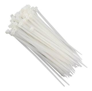 Abraçadeira Plástico Branco 3mm X 150mm Pacote C/100 Unid