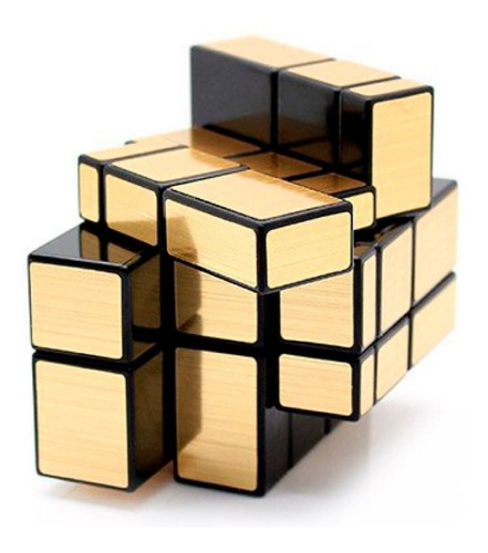 Imagen 1 de 5 de Cubo Rubik Mirror Transformers Cubo Magico Dorado Relieves