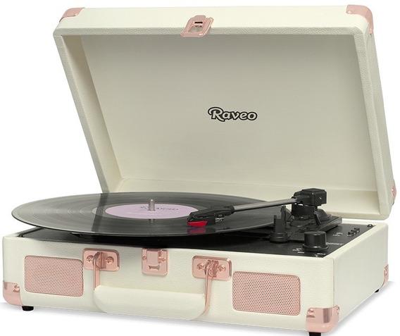 Toca Discos Raveo Sonetto Gravação Bluetooth Rose Gold