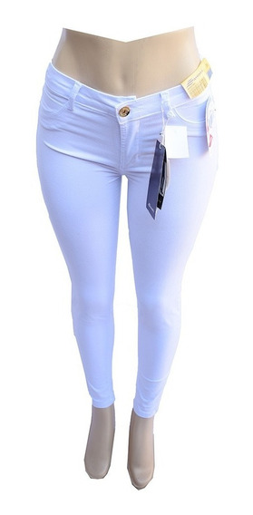 Calça Jeans Sawary Branca Tamanho 36 Com Lycra - 251397