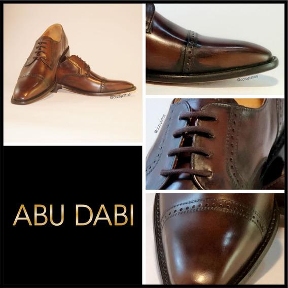 Zapato Cuero Hombre - Modelo Abu Dabi - Diseños Exclusivos