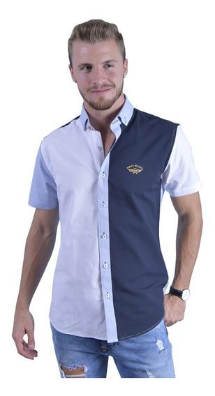 Camisa Hombre Porto Blanco Manga Corta Sport