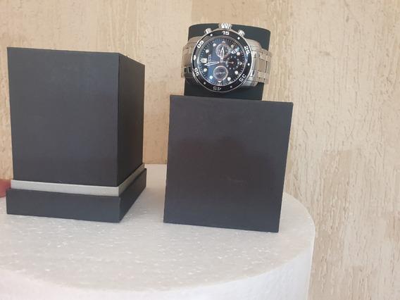 Relógio Invicta Pro Driver Orig 21920 Prata Mostrador Preto