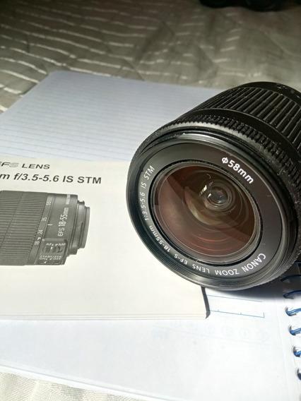 Objetiva Canon 18 55 Mm Stm