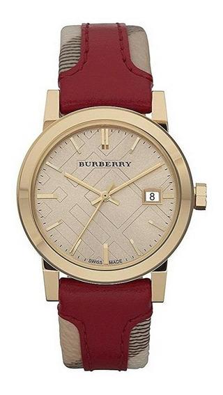Reloj Burberry Swiss Haymarket Acero Piel Mujer Bu9111
