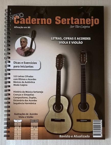 Caderno Sertanejo Novo Vol 1 Músicas Cifradas Viola E Violão