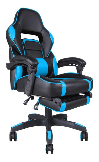 Cadeira Gamer Indianapolis Azul E Preta