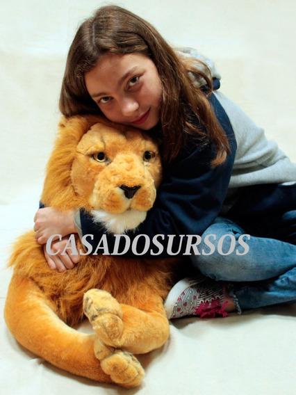 Leão Pelúcia Gigante 160 Cm 1,60 Mt Decoração Quarto Festas