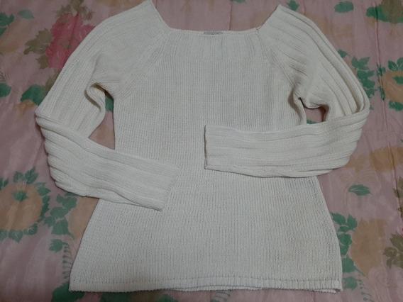 Hermoso Sweater Cacharel Hilo Calado Talle 3 Color Tiza