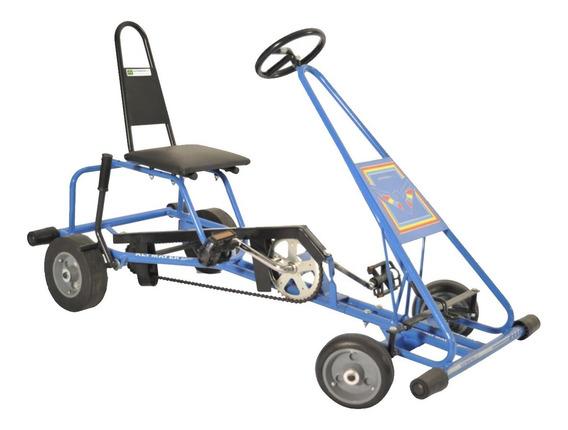 Quadriciclo Infantil Criança Pedal Kart Azul Al-35 Altmayer