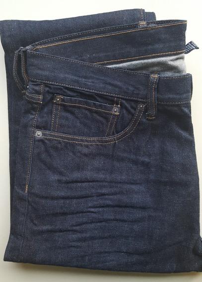 Jean Hombre Azul Gap Taper Talle 36 Cintura/34 Largo