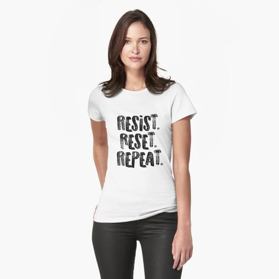 Camiseta Camisa Resista Recomece Repita Seja Forte Feminino 100% Algodão Ótima Qualidade