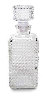 Decanter Botella De Vidrio Whisky Labrada Wheaton Barroco Con Tapón A Presión - 1048 Ml