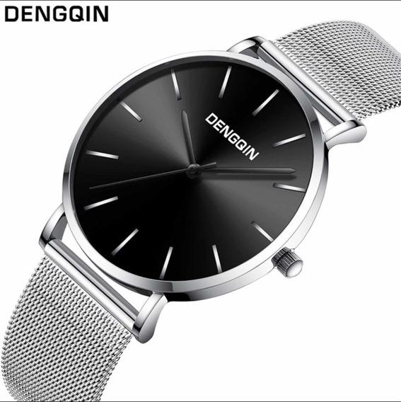 Relógio Masculino Quartzo Pulseira Em Aço Original