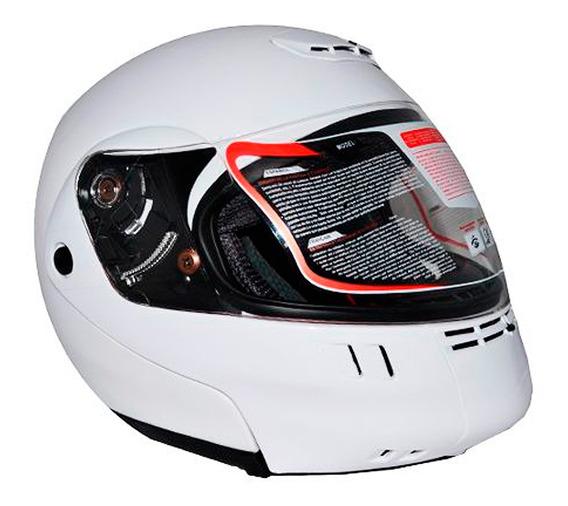 Casco Moto Abatible Abs Talla Grande Blanco K301 Kinlley