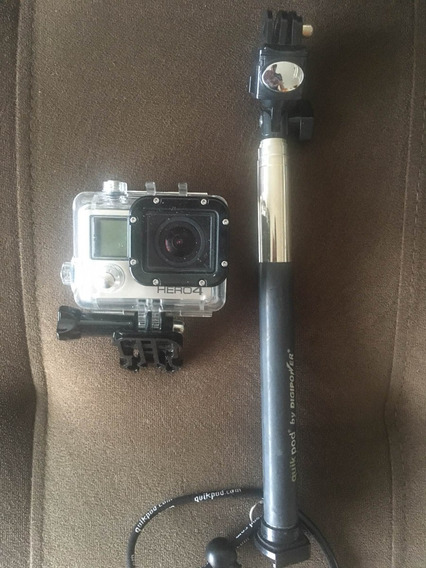 Gopro Hero 4 Com Cartao De Memoria 2gb + Quick Pod Originais