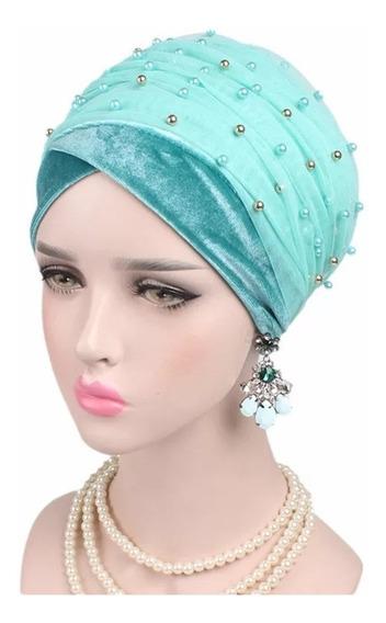 Turbante Malla Larga Adorno Cáncer Alopecia Moda Musulmana